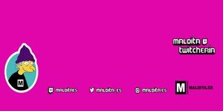 Profile banner for malditaes
