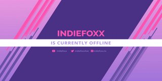 Profile banner for indiefoxx