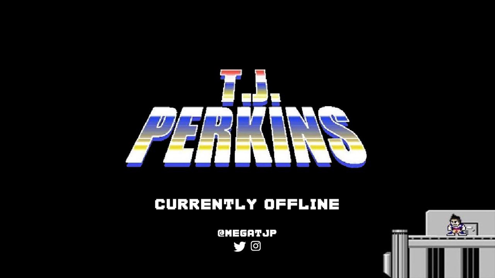 Streamer's offline cover page