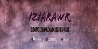 Profile banner for iziarawr