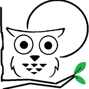 黑白貓頭鷹 Logo