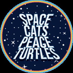 SpaceCatsPeaceTurtles Logo