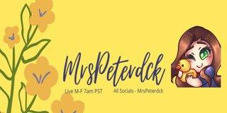 Profile banner for mrspeterdck