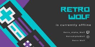 Profile banner for retro_alpha_wolf