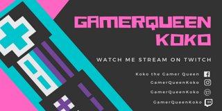 Profile banner for gamerqueenkoko