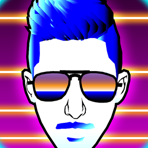 neon graphic design #synthwave #graphicdesign #digitalart