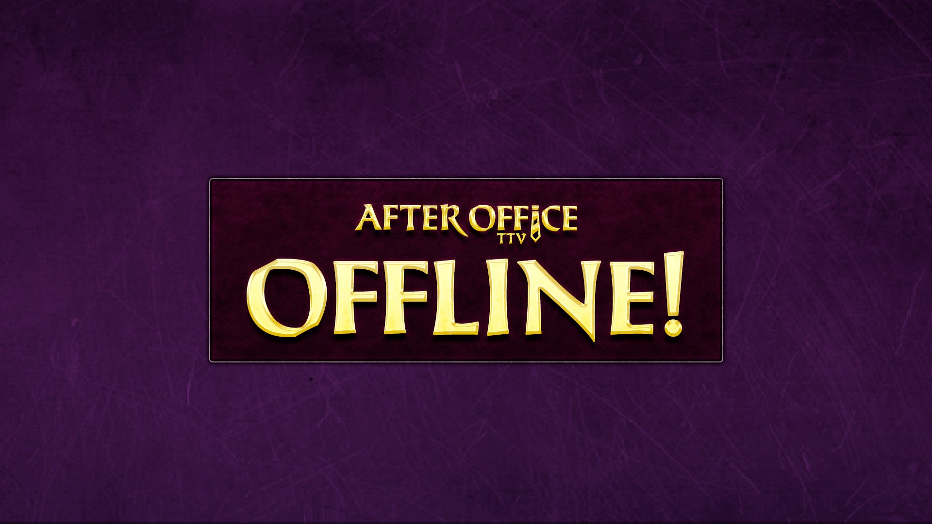 Twitch stream of AfterOfficeTTV