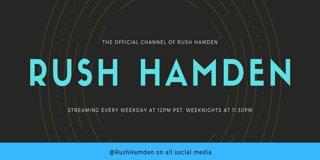 Profile banner for rushhamden