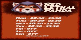 Profile banner for redlethalpanda