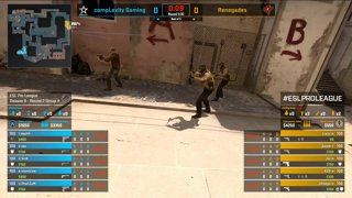 CS:GO - compLexity vs. Renegades [Mirage] Map 3 - Group A - ESL Pro League Season 9 Americas