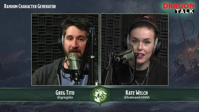 Dragon Talk: Random Character Generator, 4/5/19