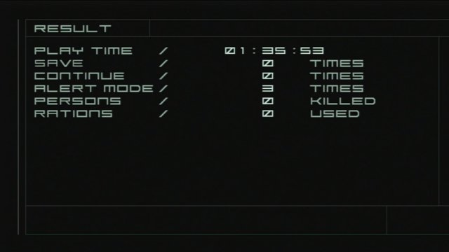 Metal Gear Solid 2 Big Boss Run No Saves 01 33 34