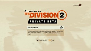 Highlight: PCG1 Plays The Division 2 Private Beta | Part 1_1