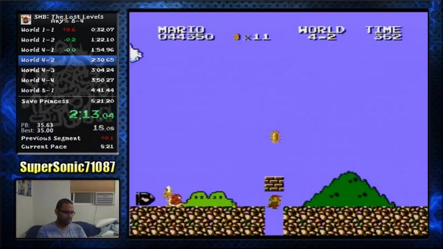 Super Mario Bros : The Lost Levels any% 8-4 Speedrun