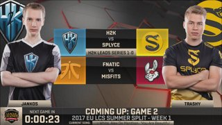 [SRB-CRO] EU LCS Summer 2017 - Week 1 Day 1: H2K vs. Splyce G2