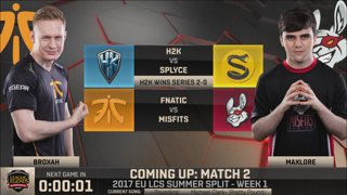 [SRB-CRO] EU LCS Summer 2017 - Week 1 Day 1: Fnatic vs. Misfits G1