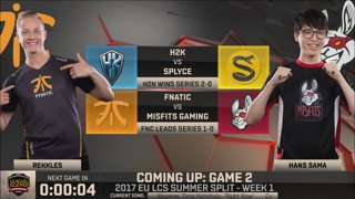 [SRB-CRO] EU LCS Summer 2017 - Week 1 Day 1: Fnatic vs. Misfits G2