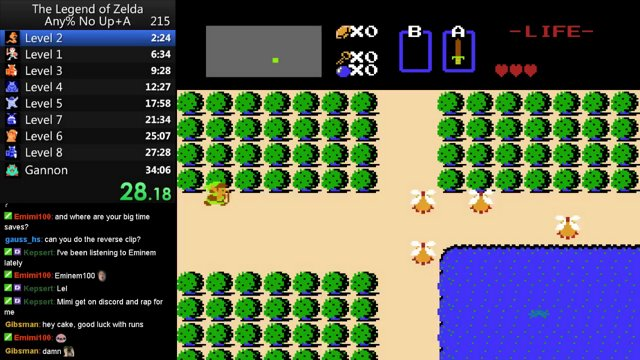 The Legend of Zelda: Any% No Up + A in 32:48
