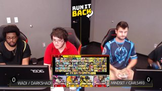 Run It Back - WaDi / DarkShad (ROB / Shulk) vs Mindset / Carls493 (ROB / Shulk) Losers Round 2 - Smash Ultimate Doubles