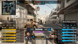 CS:GO - eUnited vs. Cloud9 [Dust2] Map 3 - Group B - ESL Pro League Season 9 Americas