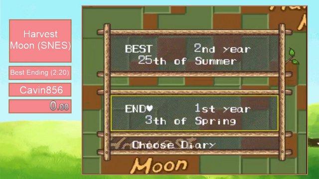 Harvest Moon Marathon 3 - Harvest Moon (SNES) by Cavin856