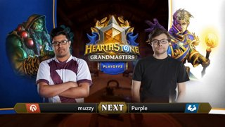 muzzy vs Purple - Group 2 Elimination - Hearthstone Grandmasters Americas S2 2019 Playoffs