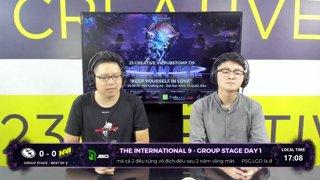 The International 9 | Group Stage Day 1 | NAVI vs EG | Caster: Tú Lê ft Hà Lê