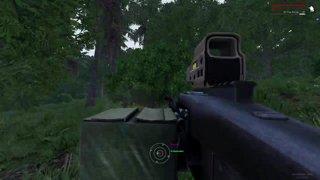 Firefight through grass