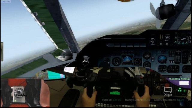 P3D V4 An225 Shaky landing at Denver Airport