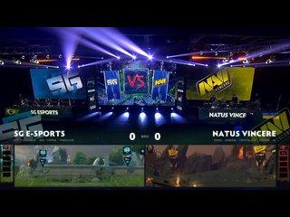 видео: Natus Vincere vs SG esports, game 1