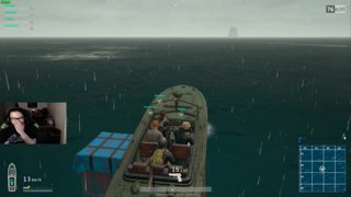 Boat fight (enemy abandons ship)