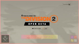 WGNN - The Division 2 Beta 2/21/19 [DamianKnightLiveinHD] [1/2]