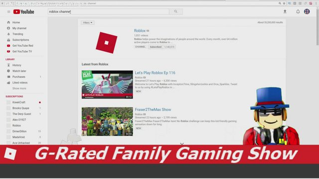 g rated family gaming roblox