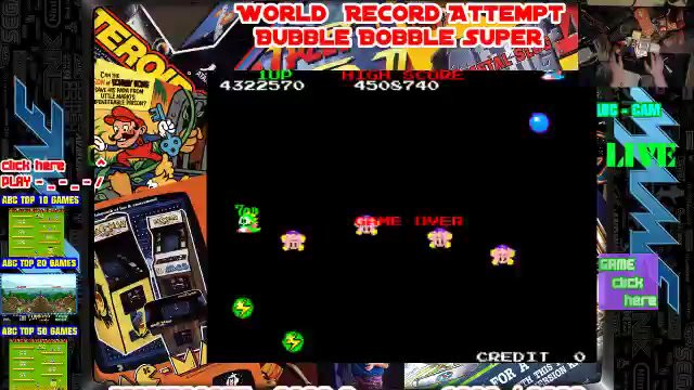 🔴🕹 Super Bubble Bobble 8085430 on MAME 🔴🕹 WORLD RECORD 🔴🕹