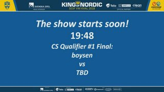 IESF - Swedish CS:GO Qualifier Q1 - King of Nordic 19:00 CET