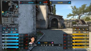 CS:GO - eUnited vs. Cloud9 [Inferno] Map 1 - Group B - ESL Pro League Season 9 Americas