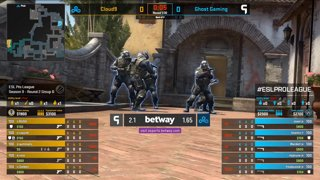 CS:GO - Cloud9 vs. Ghost [Inferno] Map 1 - Group B - ESL Pro League Season 9 Americas