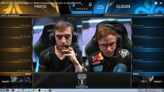 Cloud 9 vs Fnatic Game 3 Speed vod rev