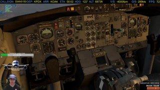 B732 Single Engine Landing OAK