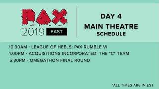 Highlight: PAX EAST 2019 - MAIN THEATER - League of Heels: PAX Rumble VI