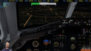 MD-82  Landing in to DFW