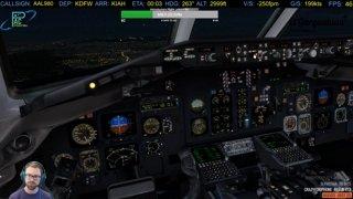 MD-82 landing at IAH