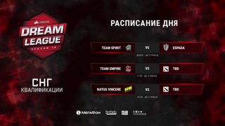 Team Espada vs Team Spirit | DreamLeague Season 10 CIS Qualifiers game 1 [NS & Maelstorm]