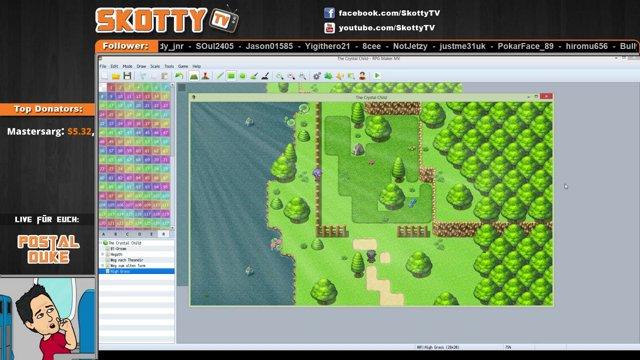 SkottyTV - RPG Maker MV - Tutorial 01 - Sunlight effect - Twitch