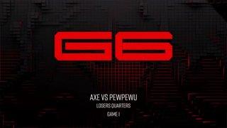 Genesis 6 SSBM - Tempo | Axe (Pikachu) Vs. CLG | PewPewU (Marth) Smash Melee Tournament LQ
