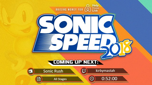 Sonic Speed 2018 - Sonic Rush - All stages in 0:44:01 & Sonic Rush  Adventure - All Islands in 56:38 by Kirbymastash