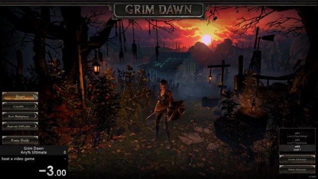 Grim Dawn speedrun - any% ultimate (witch hunter) in 3:02:38
