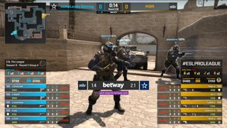 CS:GO - compLexity vs. MIBR [Mirage] Map 3 - Group A - ESL Pro League Season 9 Americas
