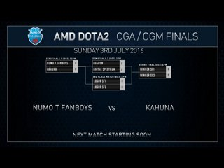 AMD Dota2 CGm Finals Numo T Fanboys VS Kahuna Game 1