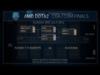 AMD Dota2 CGm Finals Numo T Fanboys VS Kahuna Game 2